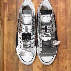 4a9c2e127eae 【受注制作】シルバークロコチクチク靴 HI 16ピース シューズ・靴 DWARF ( ドワーフ ) 通販 Creema(クリーマ) ハンドメイド・ 手作り・クラフト作品の販売サイト