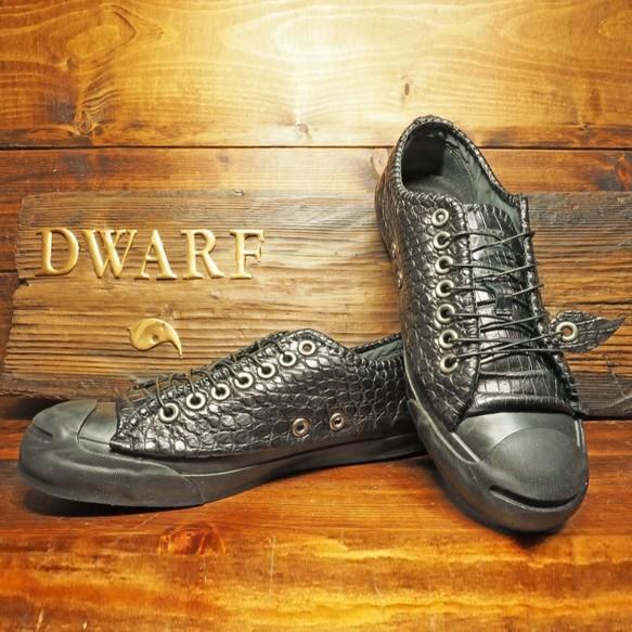 1905c638b14d 【受注制作】 クロコダイル靴 ローカット JP シューズ・靴 DWARF ( ドワーフ ). ハンドメイド通販・販売 Creema ...