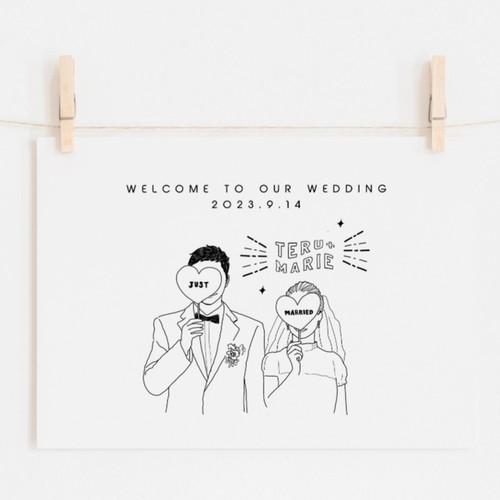 雑誌風 おしゃれ似顔絵ウェルカムボード ウェディング 結婚祝い ウェルカムボード Diystorepbw 通販 Creema クリーマ ハンドメイド 手作り クラフト作品の販売サイト