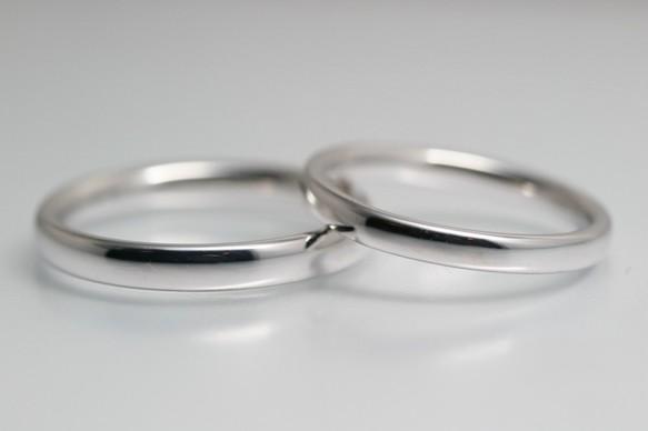 ストレートシンプル結婚指輪 どれを選んでも2本合計85000円◇プラチナorK18ホワイトゴールド