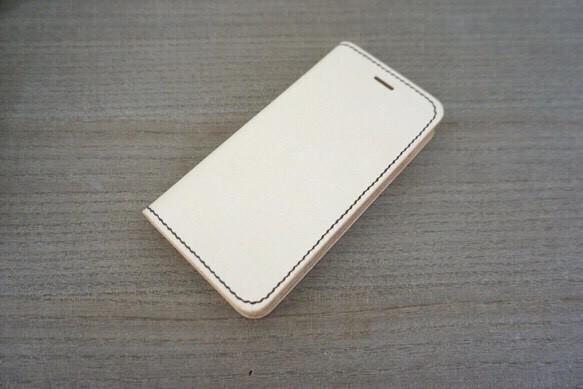 9c69f015ea 牛 ヌメ革 iphone6/6sカバー レザーケース 手帳型 ナチュラルカラー 茶 ...