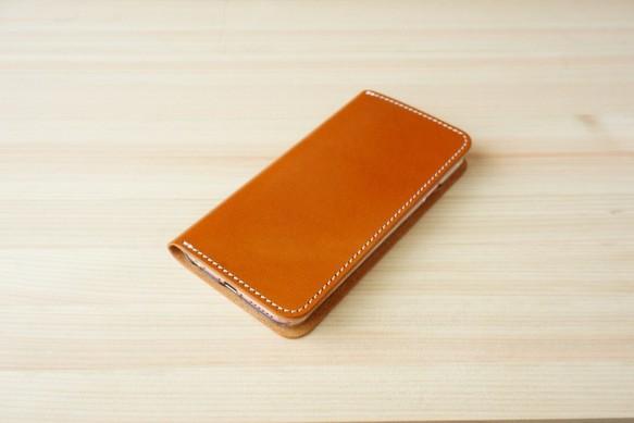 ccc89d347d 牛革 iPhone6/6sカバー ヌメ革 レザーケース 手帳型 キャメルカラー ...