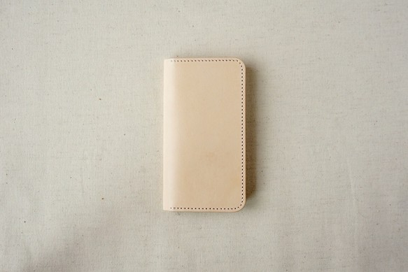 e491cf6292 牛革 iPhone SE/5/5sカバー ヌメ革 レザーケース 手帳型 ナチュラル ...