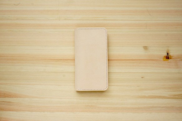 086b78c86d 牛革 iPhone8/iPhone7カバー ヌメ革 レザーケース 手帳型 ナチュラル ...