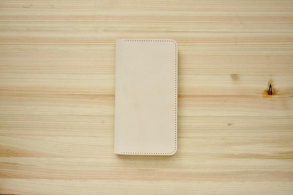 db480262cd 牛革 iPhone8Plus/7Plusカバー ヌメ革 レザーケース 手帳型 ナチュラル ...