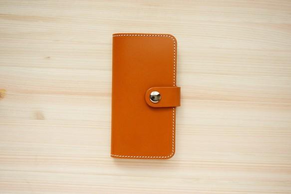 f67d1c29f5 牛革 iPhone 手帳型 ヌメ革 キャメル(XS/X/8/8Plus/7/7Plus/SE/6/6s/6Plus)