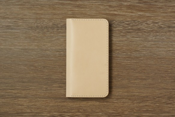 79dbf5d8f4 牛革 iPhoneXS/Xカバー ヌメ革 レザーケース 手帳型 ナチュラルカラー ...