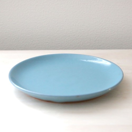 あたたかな水色釉薬のお皿 * 約21cm 皿・プレート TSUCHI-HANAKI 通販 ...
