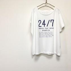 cc7f6ea4265fe めっちゃ可愛い❤ ドルマンスリーブレディースTシャツ(オフホワイト) /プリント ロゴ 白T オフ白