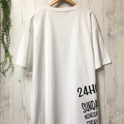 bcc4ed3eff65d Tシャツ/メンズ5XL!!着ると可愛い!超ビッグTシャツ(ホワイト)/ レディース 白T 大きいサイズ 春夏 Tシャツ・カットソー(メンズ)  24/7Graphics ...