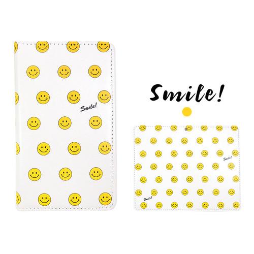 Iphoneスマホ各機種対応可愛いニコちゃん スマイリー 手帳型ケース