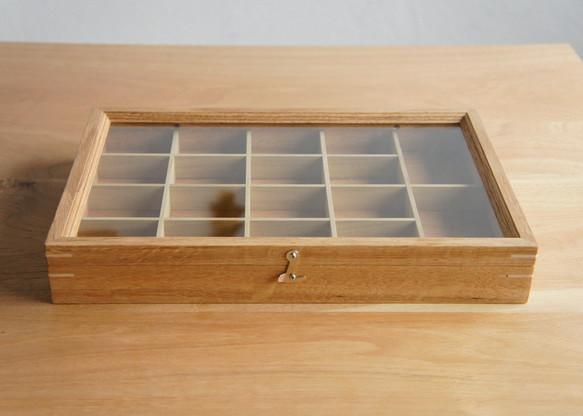 木製アクセサリーケース オーク(小物入れ・ジュエリーボックス)