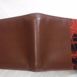 46fe8047bce0 アンティーク帯と牛革の札入れ 赤黒ストライプ 財布・二つ折り財布 AJMANA 通販|Creema(クリーマ)  ハンドメイド・手作り・クラフト作品の販売サイト