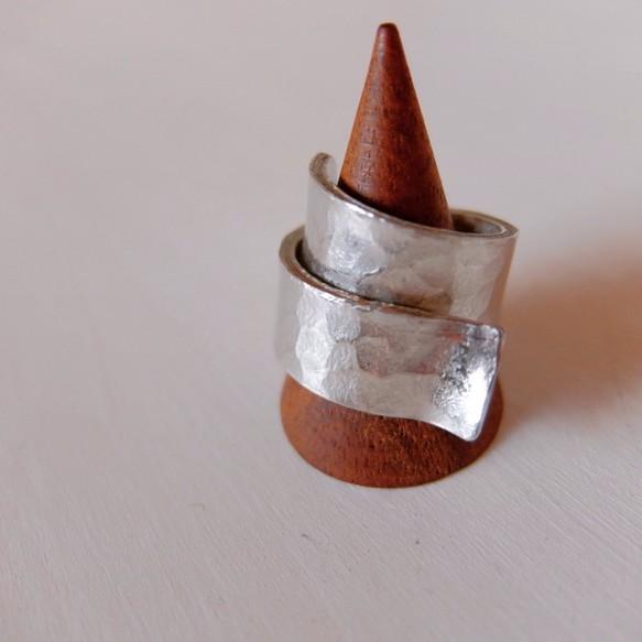 錫のボリュームリング 指輪・リ...