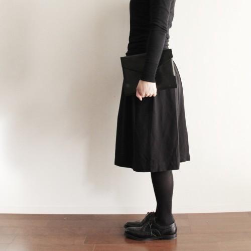 レザー スモールクラッチバッグ(ブラック) GS