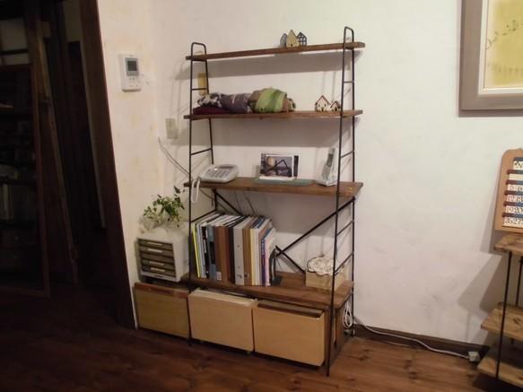 新商品!木製オープンラック 斜め収納棚
