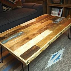 折りたたみ 古材 テーブル 92cm ローテーブル リビングテーブル センター