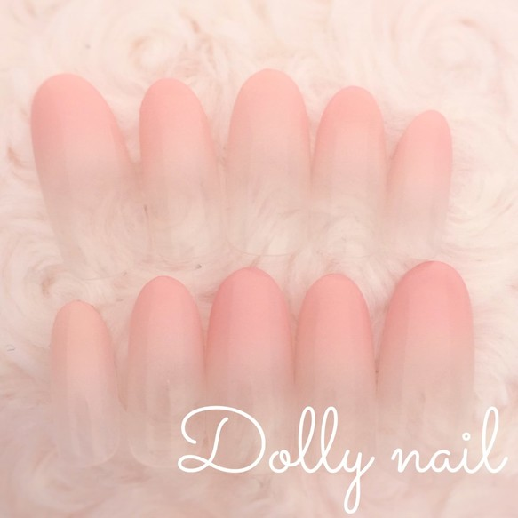 オーバル*肌馴染み抜群◎ナチュラルピンクベージュのグラデーションネイル ネイルチップ ♡Dolly nail