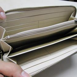 8044c51b48ac 本革長財布 ラウンドファスナー ナイルクロコ柄のサックス 長財布 sansho-leather 通販|Creema(クリーマ)  ハンドメイド・手作り・クラフト作品の販売サイト