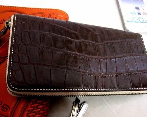 c2a2c8005b51 本革長財布 ラウンドファスナー ネイビー 長財布 sansho-leather 通販 ...