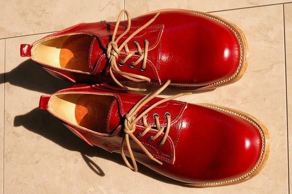 c40483905e2e 受注生産】 本格派の本革靴 外羽短靴タイプ 赤い靴! シューズ・靴 ...