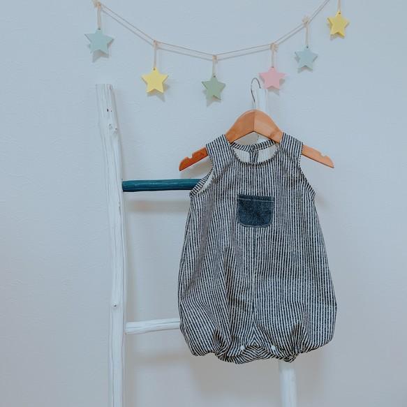 7f21bf5eb7ff0 男の子ポケットロンパース ベビー服 こはるびより 通販|Creema(クリーマ ...