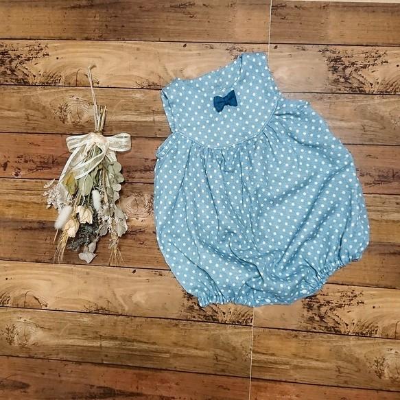 41ee39484f268 限定1点】ドットのぷっくりロンパース ベビー服 こはるびより 通販 ...