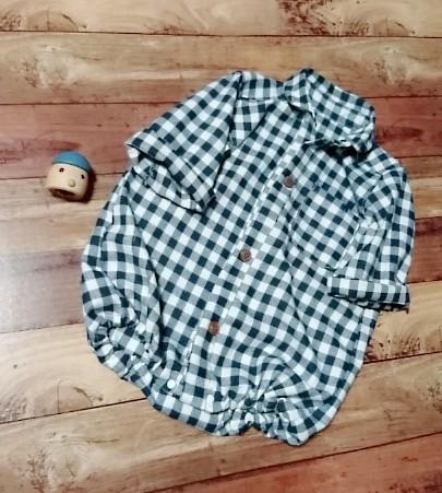 b19763ca161f6 男の子も。。。♥ギンガムチェックのシャツロンパース ベビー服 こはるびより