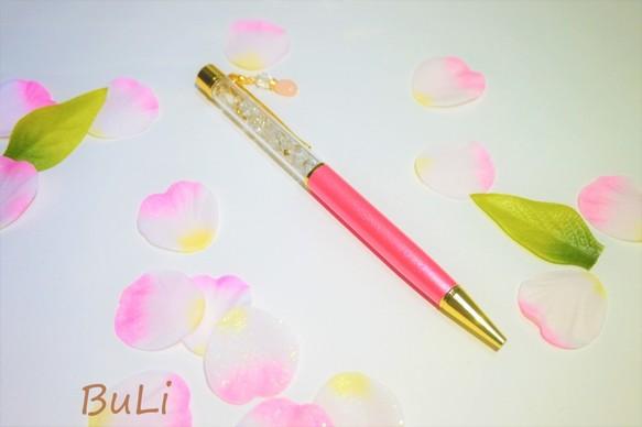 キラキラ水晶ボールペン(モルガナイト)
