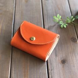 020b9670a402 イタリアンレザーを使ったオレンジ色の三つ折り財布 財布・二つ折り財布 HAKODATE CRAFT 通販|Creema(クリーマ)  ハンドメイド・手作り・クラフト作品の販売サイト