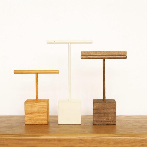 [受注製作] 木製 イヤリングスタンド・ピアススタンド【Mサイズ】色と高さが選べる