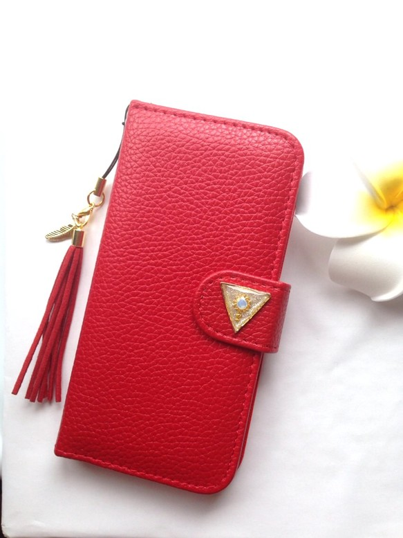 fdc1419659 iPhone5 5s iPhone6 iPhone SE 手帳 携帯 ケース カバー 赤 かわいい 綺麗 スタンド