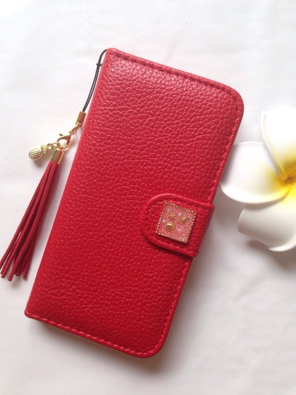 37b05ab6c7 iPhone5 5s iPhone6 6s iPhone SE 赤 手帳 スタンド かわいい 携帯 ケース カバー 綺麗