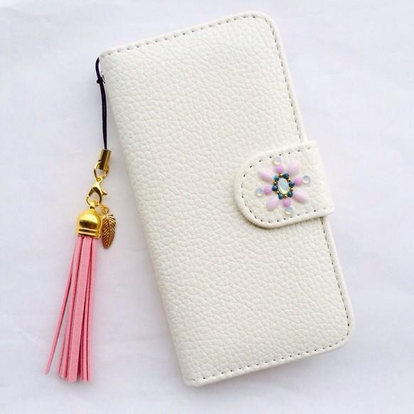 be2bfa88c5 iPhone6/6s・5/5s・SE 携帯 ケース カバー アイフォン 白 かわいい 綺麗 レザー 手帳 おしゃれ