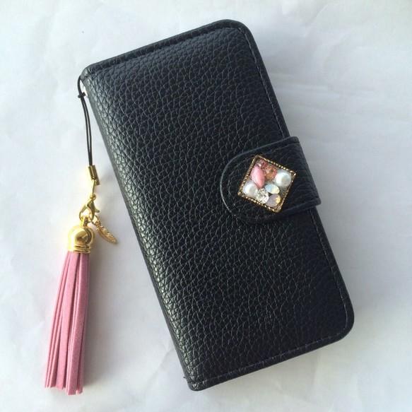 ce20c61a80 iPhone SE 5/5s 6/6s 手帳 カバー ケース 黒 スワロ 秋 冬 可愛い 新作 キラキラ カード