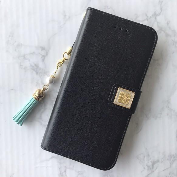 iPhoneX 手帳型 ケース レザー カード 黒 カバー 人気 かわいい ...