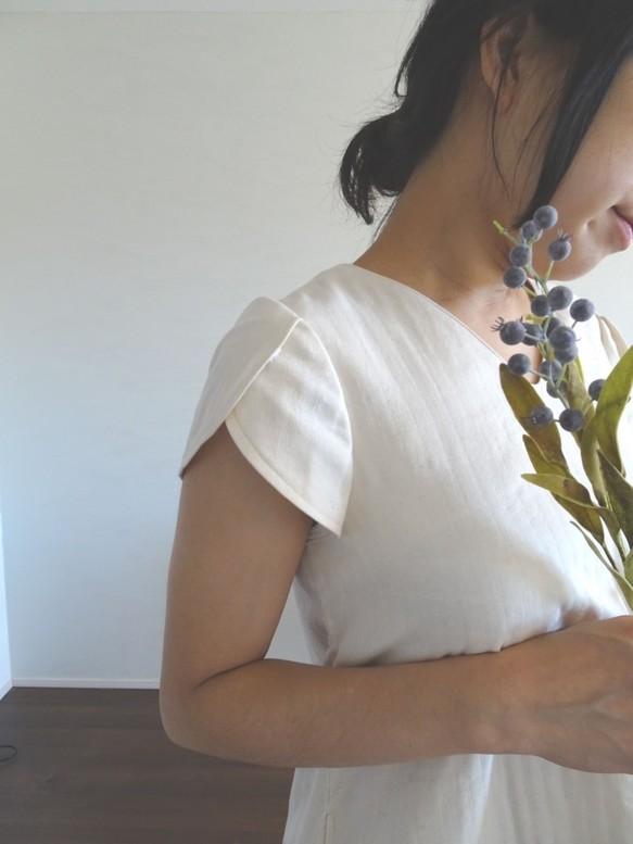 63d831b354c42 チューリップ袖トリプルガーゼがやさしいワンピース ホワイト ワンピース・チュニック lilas lilas