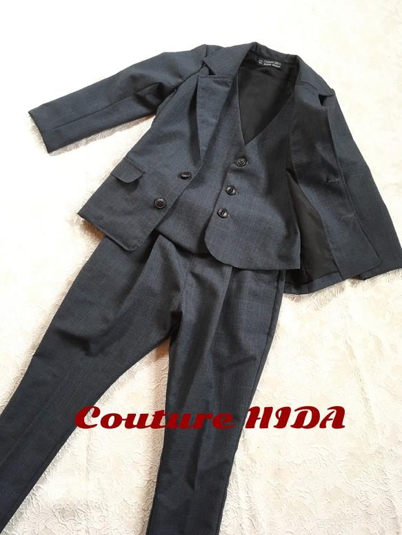 2e4dcc4306517 キッズフォーマル スリーピース ベスト パンツ ジャケットセット 子供服 ...