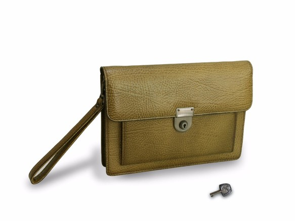 5857e4da3f5c 本革鍵付きA5セカンドバッグ クラッチバッグ 紳士 メンズ クラッチバッグ(メンズ) JOH KAZUKO