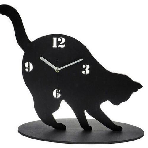 RoomClip商品情報 - 【送料¥340】 黒猫の時計【何掘ってるの‥?】
