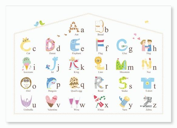 Abcの形をしたアルファベット表 横長 雑貨その他 さっちも 通販