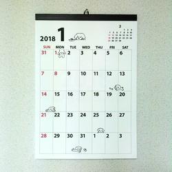 2018年 どうぶつ 月めくりカレンダー a3 カレンダー さっちも 通販