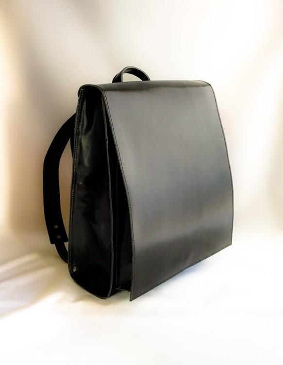 9113fcff3d ポケットたくさん【ランドセル型】リュックサック【ヌメ革】黒 リュック ...
