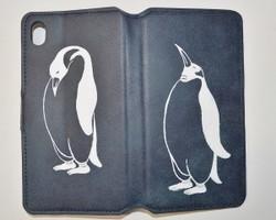 55c2021e23 ペンギン手帳型 アンティークレザー iPhone/Xperiaケース、iPhone6,7,8対応