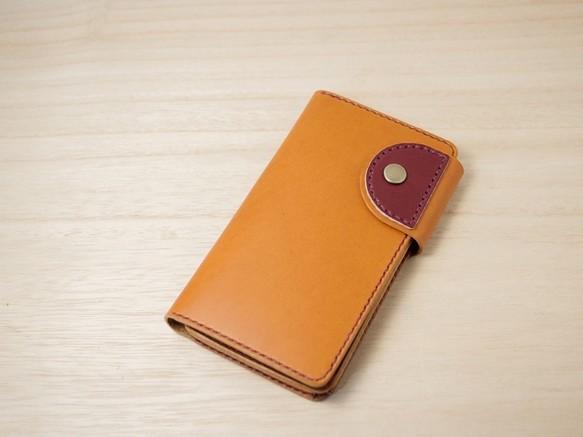 受注製作 iphonex iphonexs用 手帳型 レザーケース 革の色が18色