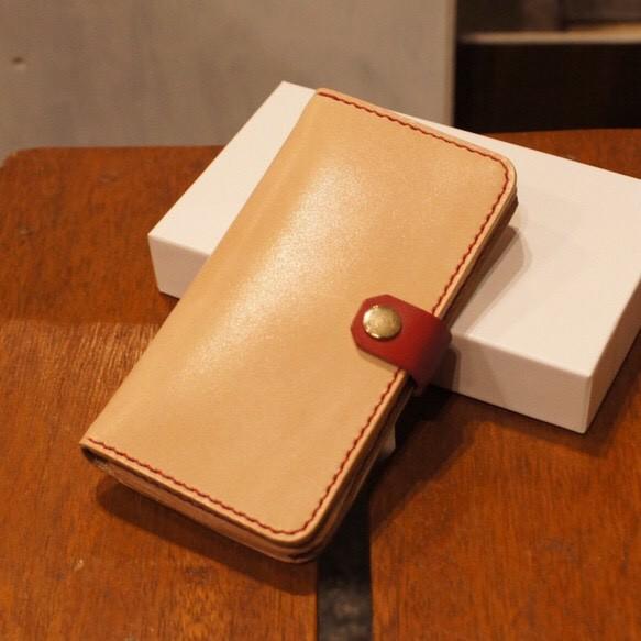 2c70b7b6eb 『受注製作』 革の色が自由に選べる iphone6/6s用 手帳型レザーケース オーダーメイド 全18色