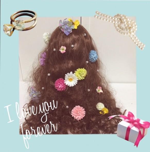 9e35b42725119 カラフル キュート❤ お花の髪飾り*ウェディング、ヘッドドレス、カラードレス、ヘアアレンジ、和装、着物、成人式、