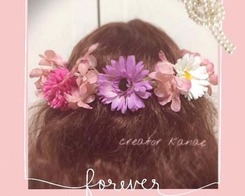 22c88f7563c65 愛されピンクのヘッドドレス〜結婚式、ウェディング、カラードレス、成人式、卒業式、和装、着物、色打掛などに ヘッドドレス(ウェディング) creator  kanae ...