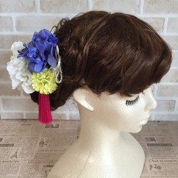 b813c1aedf25f ダリアとマムの髪飾り〜結婚式、ブライダル、ウェディング、着物、和装、白無垢、色打掛、成人式、七五三