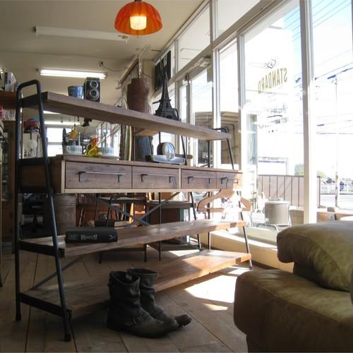 WIDE! WIDE! SHELF 170 古材×アイアンの家具 /シェルフ/ラック/食器棚/